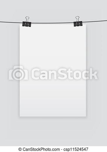 Página blanca con ilustración de vectores - csp11524547
