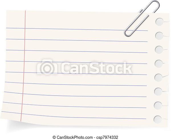 Clip y un pedazo de papel - csp7974332