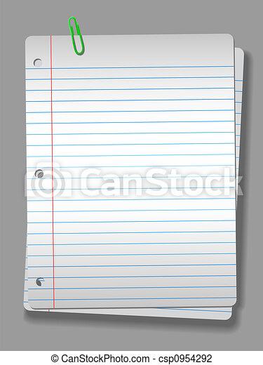clip, quaderno, riflettore, carta, fondo, 2, pagine - csp0954292
