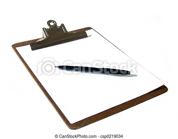 Clipboard And Pen - csp0219034