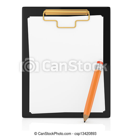 clipboard and pencil - csp13420893
