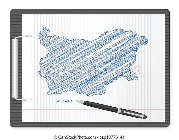 clipboard Bulgaria map - csp13776141