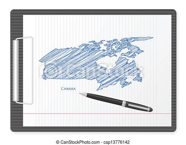 clipboard Canada map - csp13776142