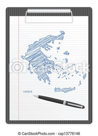 clipboard Greece map - csp13776146