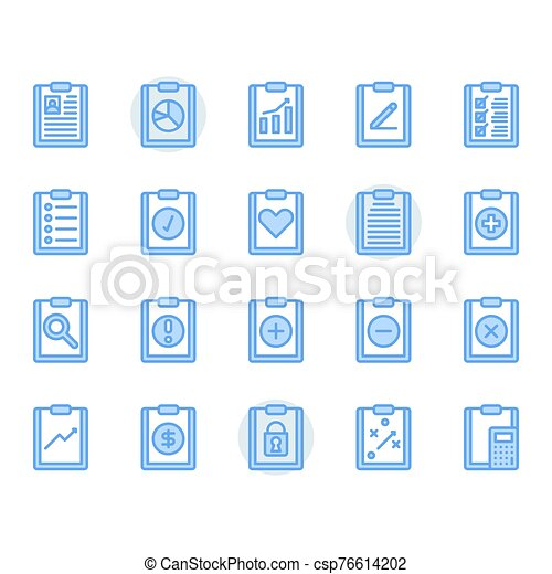 Clipboard related icon and symbol set - csp76614202