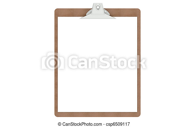 Clipboard with a blank paper  - csp6509117