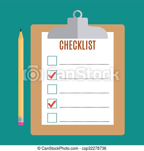 clipboard with blank checklist form clipboard with blank