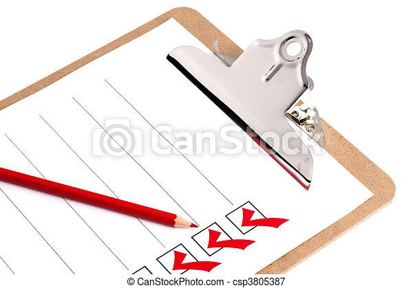 Clipboard With Checklist - csp3805387
