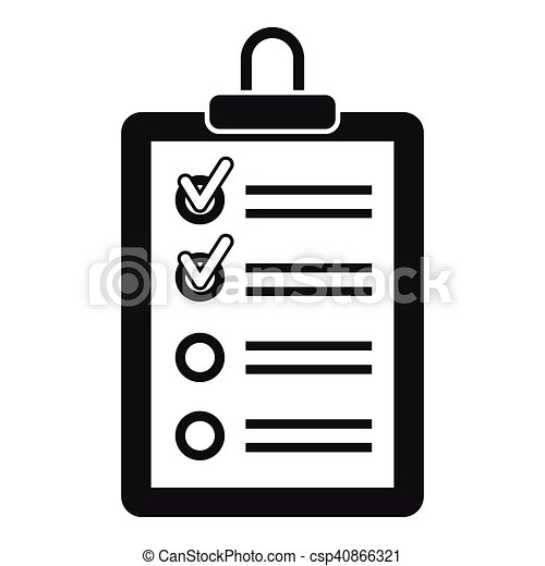 clipboard with to do list icon simple style icon simple vector rh canstockphoto com to do list clipart free to do list clipart free