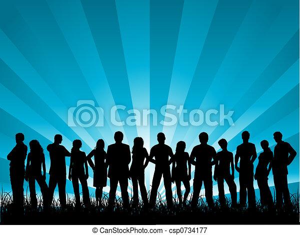 Eine Gruppe von Freunden - csp0734177