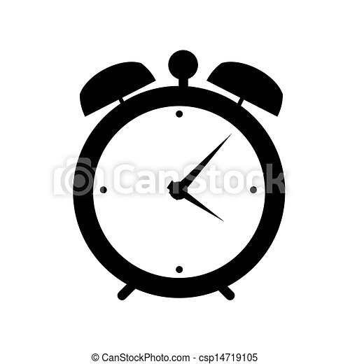 clock alarm icon vector illustration - csp14719105