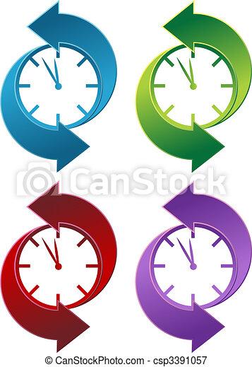 Clock Backwards - csp3391057