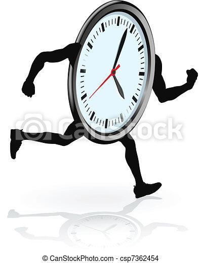 Clock character running - csp7362454