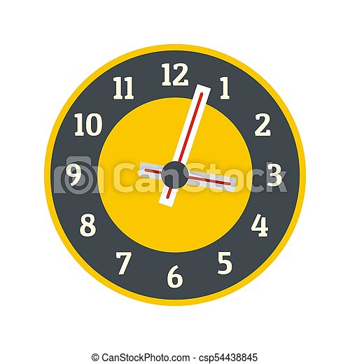 Clock concept icon, flat style - csp54438845