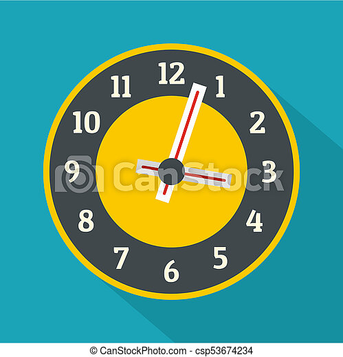 Clock concept icon, flat style - csp53674234