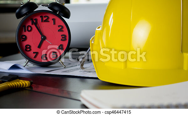 Clock counting for deadline in construction office