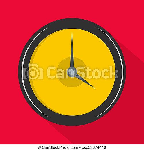 Clock deadline icon, flat style - csp53674410