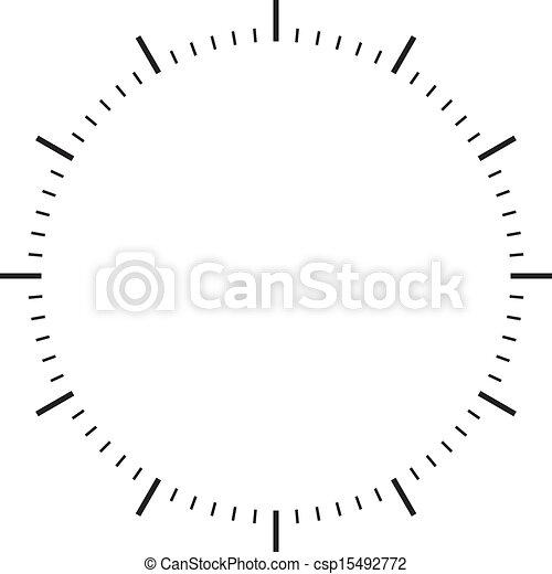clock dial black signs - csp15492772