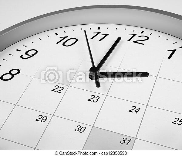 clock face and calendar. time management concept. - csp12358538