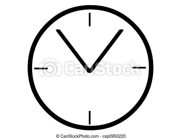 Stock Illustration of Clock face A simple black clock face – Clock Face Template