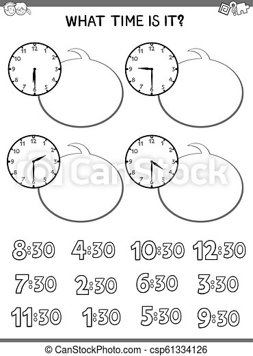 clock face educational activity for children - csp61334126