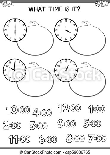 clock face educational game for children - csp59086765