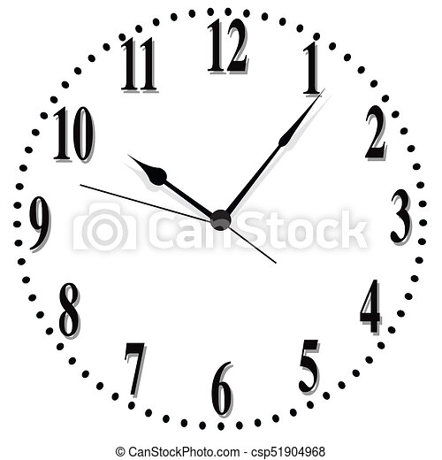 illustration of a clock face with numbers clipart - search