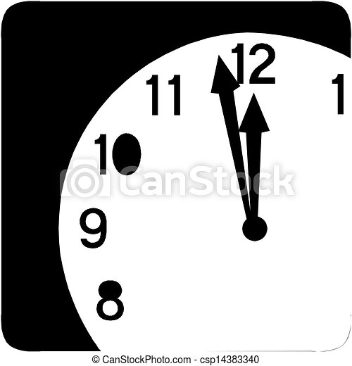 Clock face - Vector icon - csp14383340