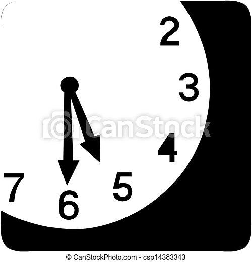 Clock face - Vector icon - csp14383343
