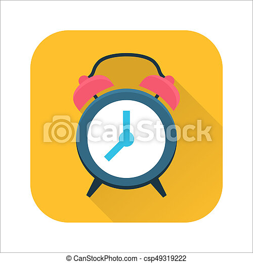 Clock flat icon - csp49319222