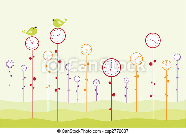 Clock garden - csp2772037