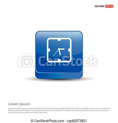 clock icon - 3d Blue Button - csp62073821