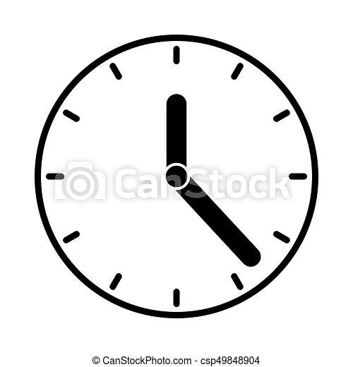 clock icon black