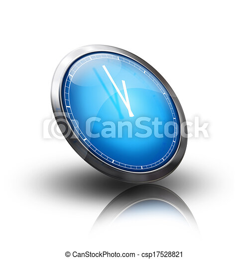 clock icon blue - csp17528821