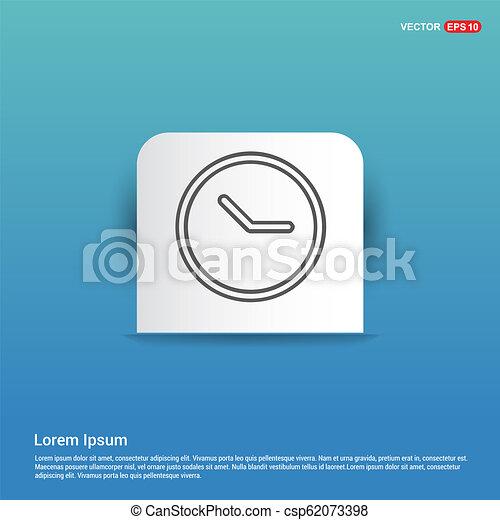 Clock Icon - Blue Sticker button - csp62073398