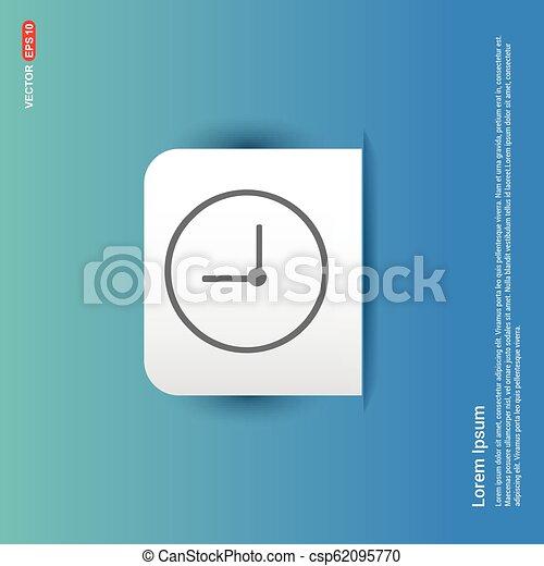 Clock Icon - Blue Sticker button - csp62095770