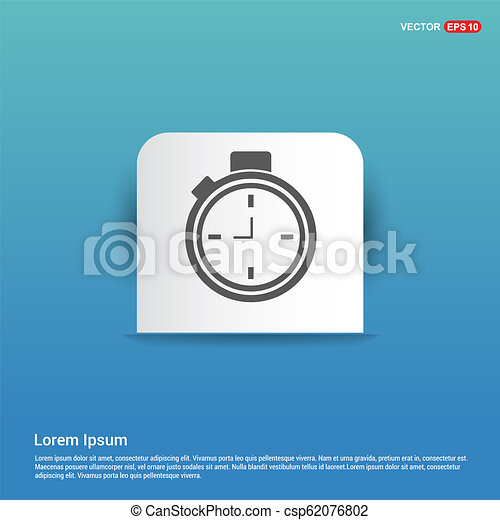 Clock Icon - Blue Sticker button - csp62076802