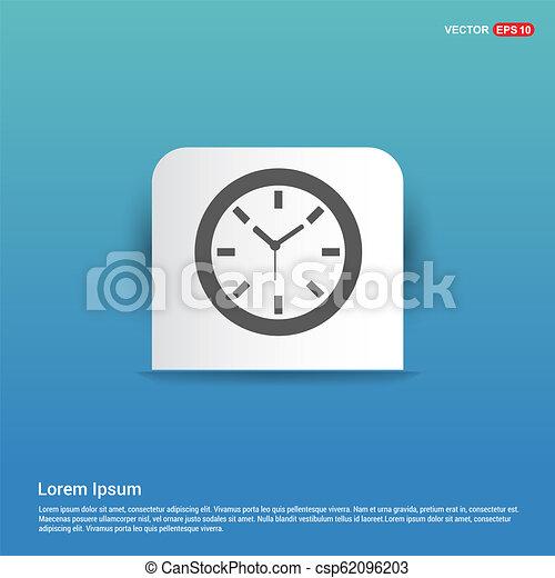 Clock Icon - Blue Sticker button - csp62096203