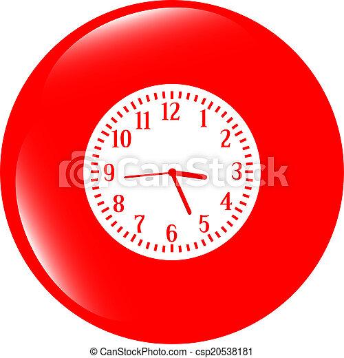 Clock icon button - csp20538181