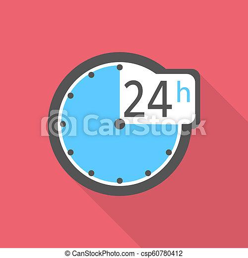 Clock icon, flat style - csp60780412