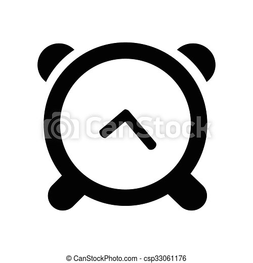 clock Icon Isolated on White Background - csp33061176