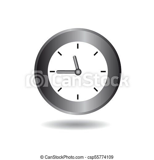 Clock icon on a white background. Vector image for your design. - csp55774109