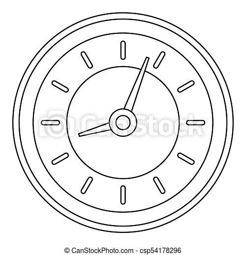 Clock icon, outline style. - csp54178296