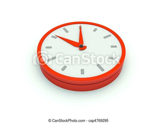 Clock icon. Red series - csp4769295