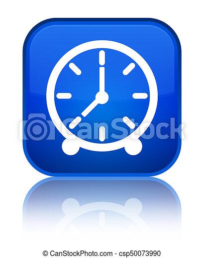 Clock icon special blue square button - csp50073990