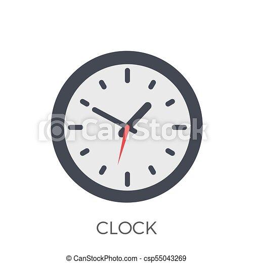 Clock Icon Vector - csp55043269