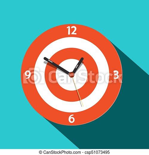 Clock Icon. Vector Flat Design Time Symbol. - csp51073495