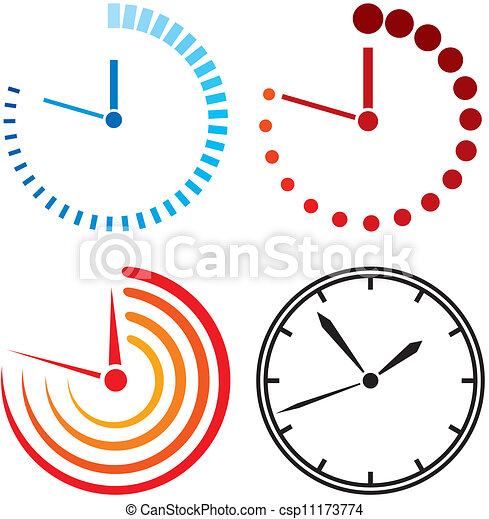 clock icons (clock set) - csp11173774