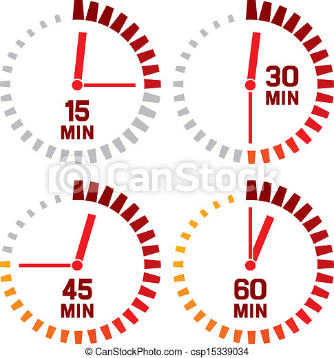 clock icons - fifteen seconds - csp15339034