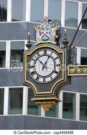 Clock in City of London - csp4456498